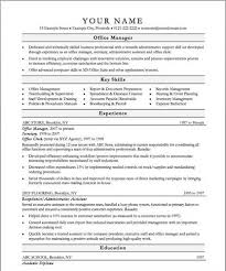 Office Manager Sample Resume Office Manager Sample U003ca Href U003d