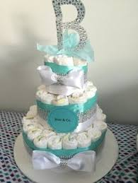 Tiffany Blue Baby Shower Cake - tiffany and co inspired diaper cake baby and co by msperks