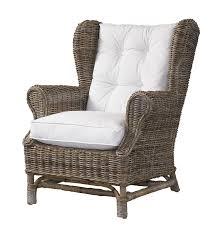 Wicker Chair Amazon Com Padma U0027s Plantataion Wing Chair Kubu With White