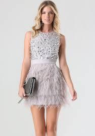 bebe rhinestone feather dress in pink lyst