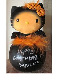 happy birthday halloween kitty pumpkin lynndaviscakes