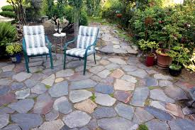 Dry Laid Flagstone Patio Laying Flagstone Boulder Placement