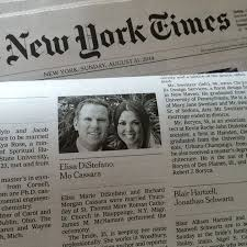 new york times wedding announcement ny times wedding announcement elisa distefano