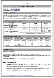 curriculum vitae format for freshers doc career page 4 scoop it