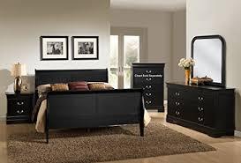 Louis Bedroom Furniture Black King Beds
