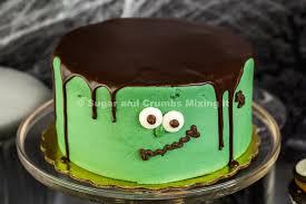 halloween frankenstein chocolate cake sugar and crumbs recipe
