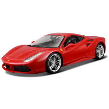 toy ferrari model cars bburago race u0026 play ferrari 488 gtb 1 18 scale model 44 00