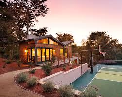 Backyard Sport Courts Backyard Basketball Court Exterior Contemporary With Balcony