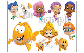 bubble guppies characters individuals custom cake topper image