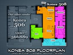 Ola Residences Floor Plan One Bed Den Fall V A L U E Special 5th Flo Vrbo