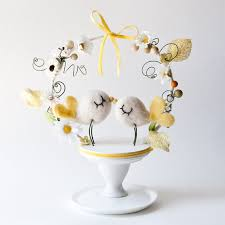 birds wedding cake toppers yellow wedding wedding cake topper 806069 weddbook