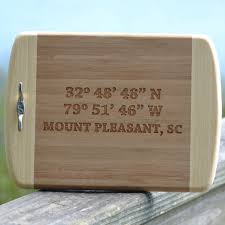 personalized engraved cutting board custom engraved and personalized cutting boards