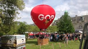 Gesamtschule Bad Oeynhausen Ballonfahrt Am Kranseil Der Gop Ballon In Bad Oeynhausen Youtube