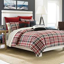 Twin Plaid Comforter Mainsail Plaid Twin Comforter Set Nautica