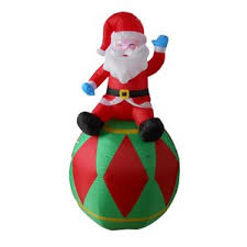 Santa Claus In Helicopter Christmas Decoration by Christmas Inflatables You U0027ll Love Wayfair