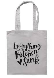 Everything But The Kitchen Sink Tote Bag TB  Illustrated - Everything and the kitchen sink