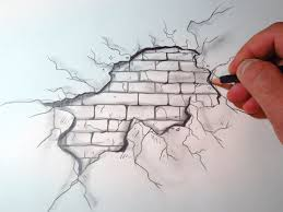 best 25 wall drawing ideas on pinterest painted wall art how to draw a cracked brick wall