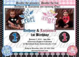 lil rebel u0026 lil angel birthday invitation