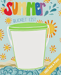 u0026 paint free printable u0026 coloring summer bucket list