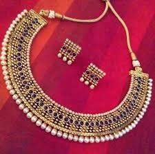 red antique necklace images Designer necklace set dulhan antique jewellery copper bridal jpg