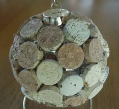glass ball cork christmas ornaments how to make ornaments