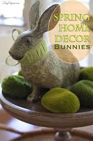 spring home decor bunnies bunny spring home decor