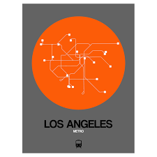 La Subway Map Los Angeles Subway Map Orange Subway City Maps Touch Of Modern