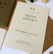 pocket wedding invitation the hunt is stag pocket wedding invitation suite by vanilla