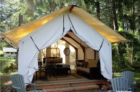 Tent Cabin by Glamping In The San Juan Islands At The Lakedale Resort Glamping