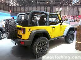 jeep rubicon yellow 2015 jeep wrangler rubicon rocks star rear three quarters right