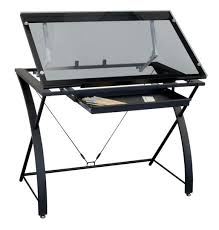Drafting Table Glass Contemporary Glass Top Drafting Table By Artist S Loft 40 5 X 23 5