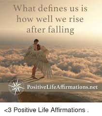 What Defines A Meme - what defines us is how well we rise after falling positivelife
