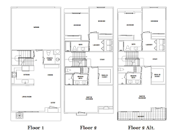 milan floor plan il borgo luxury townhomes santa fe springs