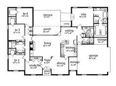 five bedroom houses eplans ranch house plan single southern 2492