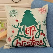 Factory Direct Home Decor Cheap Pillow Cushion Cover Buy by 2x Christmas Throw Pillows Covers Merry Christmas Gifts To Every