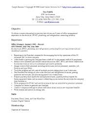 sample resume objectives resume templates