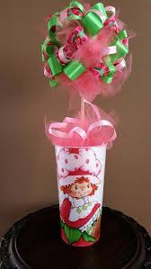 strawberry shortcake ribbon strawberry shortcake ribbon topiary birthday party centerpiece