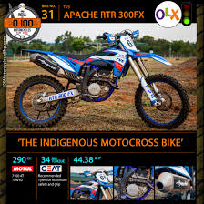 buy motocross bike bike 31 tvs rtr 300 fx u2013 the indigenous motocross bike u0027olx