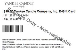 gift card online ordering information yankee candle