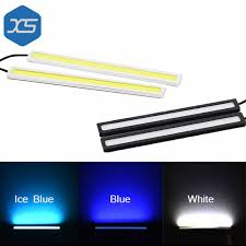 cob led light bar one pair 12v super slim bright white blue ice blue car daytime