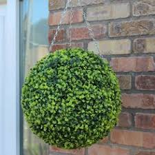 Topiary Balls With Flowers - pretty pink pansy artificial hanging basket garden pinterest