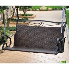 international caravan resin wicker valencia single porch swing
