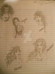 percy jackson girls sketch dump by pirates pencil on deviantart