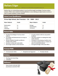 Tutor Resume Example by 12 Free High Student Resume Examples For Teens