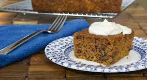 gluten free dairy free carrot cake with coconut cream