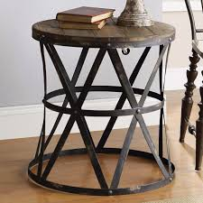 wrought iron end tables end table impressive wood and iron picture design wrought 18 groovy
