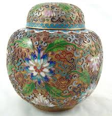 What Is Ginger Jars Vintage Cloisonne Chinese Enamel Gold Gilded Metal Vase Lotus