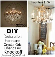 Light Fixture Hardware Parts by Remodelaholic Diy Crystal Orb Chandelier Knockoff