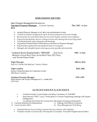 Ksa Resume Examples by Assistant Property Manager Resume Example Resumes Design Property