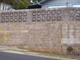 cinder block wall design inexpensive concrete block retaining wall